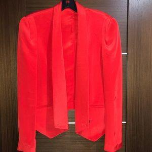 Rebecca Minkoff Red Becky Silk Jacket Blazer new